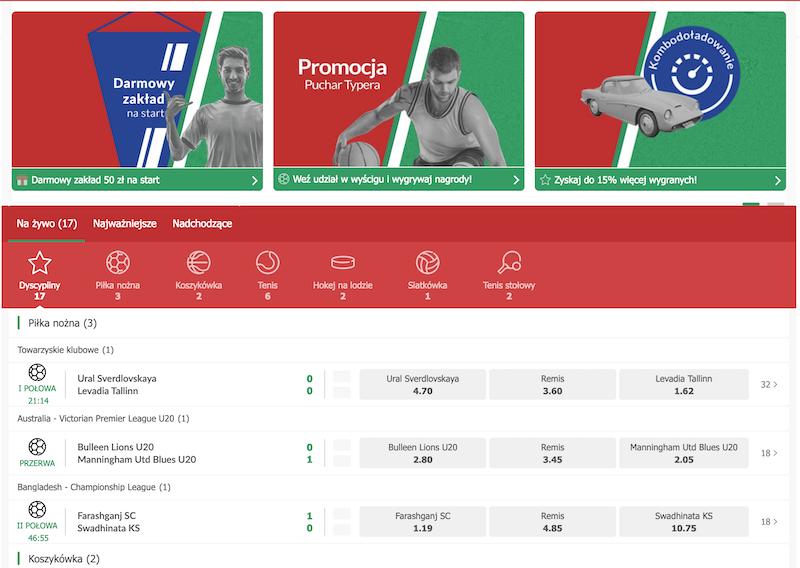 polski bukmacher internetowy pzbuk